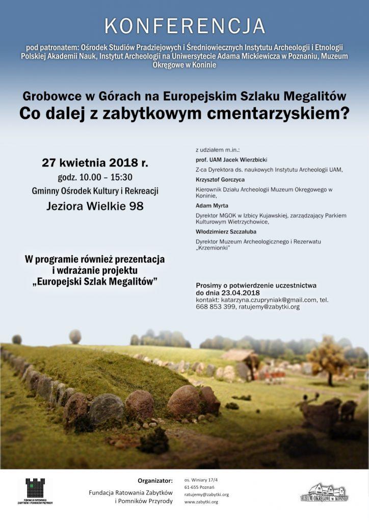 grobowce zaproszenie plakat kwiecień 2017